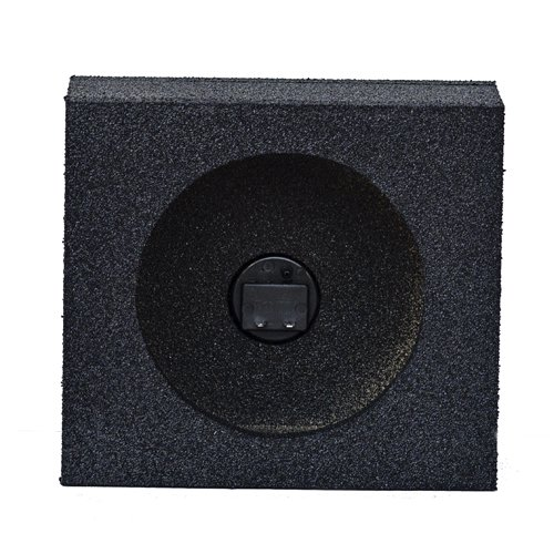 Q Power QBTW6.5 Single 6.5-Inch Sealed Universal Speaker Boxes with Durable Bed Liner Spray