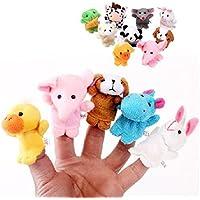 10 Unidades Marionetas de Dedo de Estilo Animal