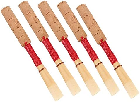 Yibuy Oboe Reed w//Plastic Tube Medium Soft Wind Instrument Part Multicolor