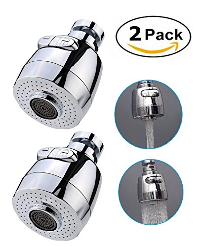 Water Saving Aerator - Sinrier 2 pack 360-Degree Swivel Water Swivel Faucet Aerator Nozzle Filter Water Saving Tap Diffuser Kitchen Accessories