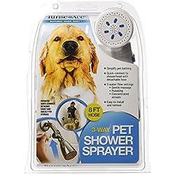 Rinse Ace Rociador de Ducha de 3 vías para Mascotas con Manguera de 8 pies y conexión rápida al Cabezal de Ducha