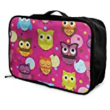 Best  - Travel Bags Cute Owl Polka Dot Portable Storage Review