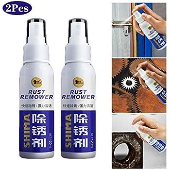 Rust Inhibitor Rust Remover Spray Rust Quick Cleaming Spray,Heavy Duty Rust & Corrosion Inhibitor Aerosol Spray, Long Term Rust Blocker, Metal Protectant & Anti-rust Lubricant (2 Pcs)