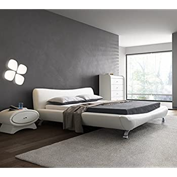 Delicieux US Pride Furniture B8065 EK Joyce Synthetic Leather Contemporary Platform  Bed, Eastern King,