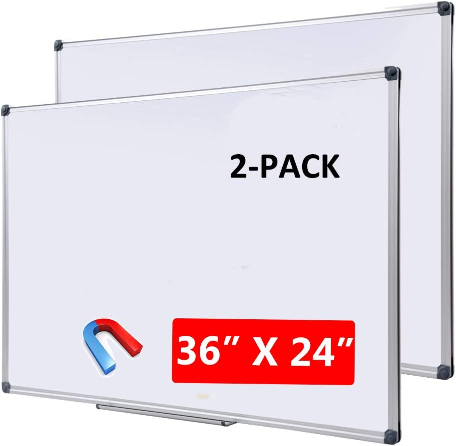 """DexBoard Magnetic Dry Erase Board with Removable Marker 36"""" x 24"""", White"""