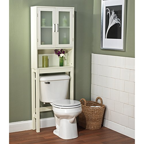 This Frosted Pane Space Saver Is designed To Fit Around Your Toilet, by Simple Living Products