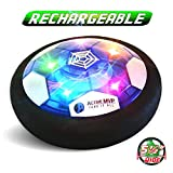 ActiveMVP Toddlers Kids Toys Mini Hover Soccer Ball Rechargeable 5½' Wide - Indoor LED Light Air Power Disc Fun Game with Foam Bumper...