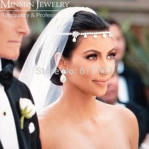 Rhinestone Crystal Frontlet Earrings Wedding Jewelry Sets Bridal Hair Accessories Wedding Accessories