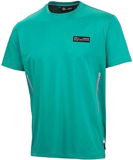 2015 Mercedes-AMG Formula One F1 Team Mens Pit T-Shirt Black//Green//Grey