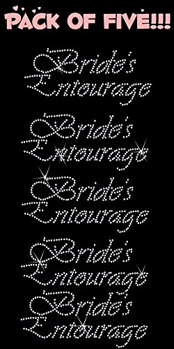BRIDES ENTOURAGE rhinestone Hotfix transfer product image