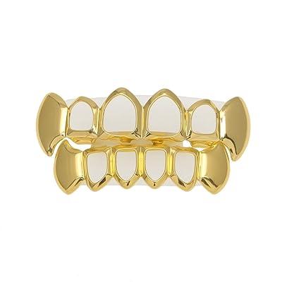 RENYZ.ZKHN Gold Teeth, Gold Teeth, Gold Teeth, Gold Teeth, Hollow Teeth, Metal Teeth, Gold Teeth, Gold Teeth