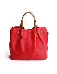 Genuine Leather Crossbody Handbags Shoulder Purse Tote for Women