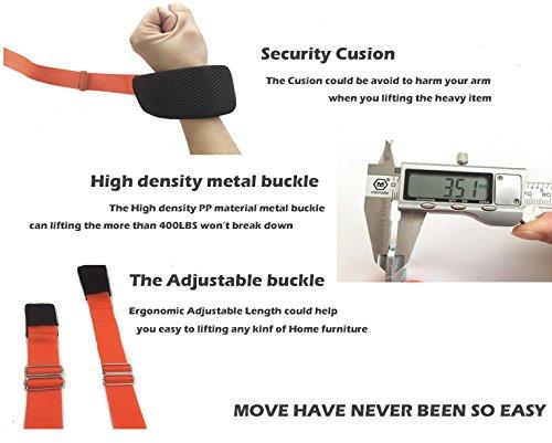 Ergonomic Lifting Arms : Ergonomic adjustable length home furniture moving straps