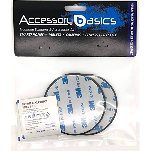 AccessoryBasics 2Pack of 80mm Adhesive Mounting Disk for Boat/Car Dashboards GPS Smartphone Dashboard Disc (Compatible with Garmin Nuvi Tomtom Magellan GPS Mount)