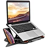 """MeFee Laptop Stand Adjustable Laptop Computer Stand Multi-Angle Stand Phone Stand Portable Foldable Laptop Riser Notebook Holder Stand Compatible for 9 to 15.6"""" Laptops Black"""