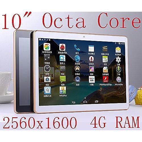 10 inch Octa Core White Tablet PC HD 2560X1600 IPS Display 4GB Ram 64GB Rom WifiI Gps 3G Call Dual sim card Dual Coupons