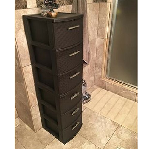 Plastic Drawer Organizer Tower Storage Bathroom Office With Individual Drawers Stackable Cabinet & Ebook By Easy2Find. by STS SUPPLIES LTD