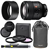 SonyFE 85mm f/1.4 GM Lens with AOM Pro Kit. Includes: Lens Pouch, UV Filter, Circular Polarizing Filter, Fluorescent Day Filter, Sony Lens Hood, Front & Rear Caps - International Version