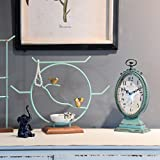 NIKKY HOME Shabby Chic Pewter Round Table Clock