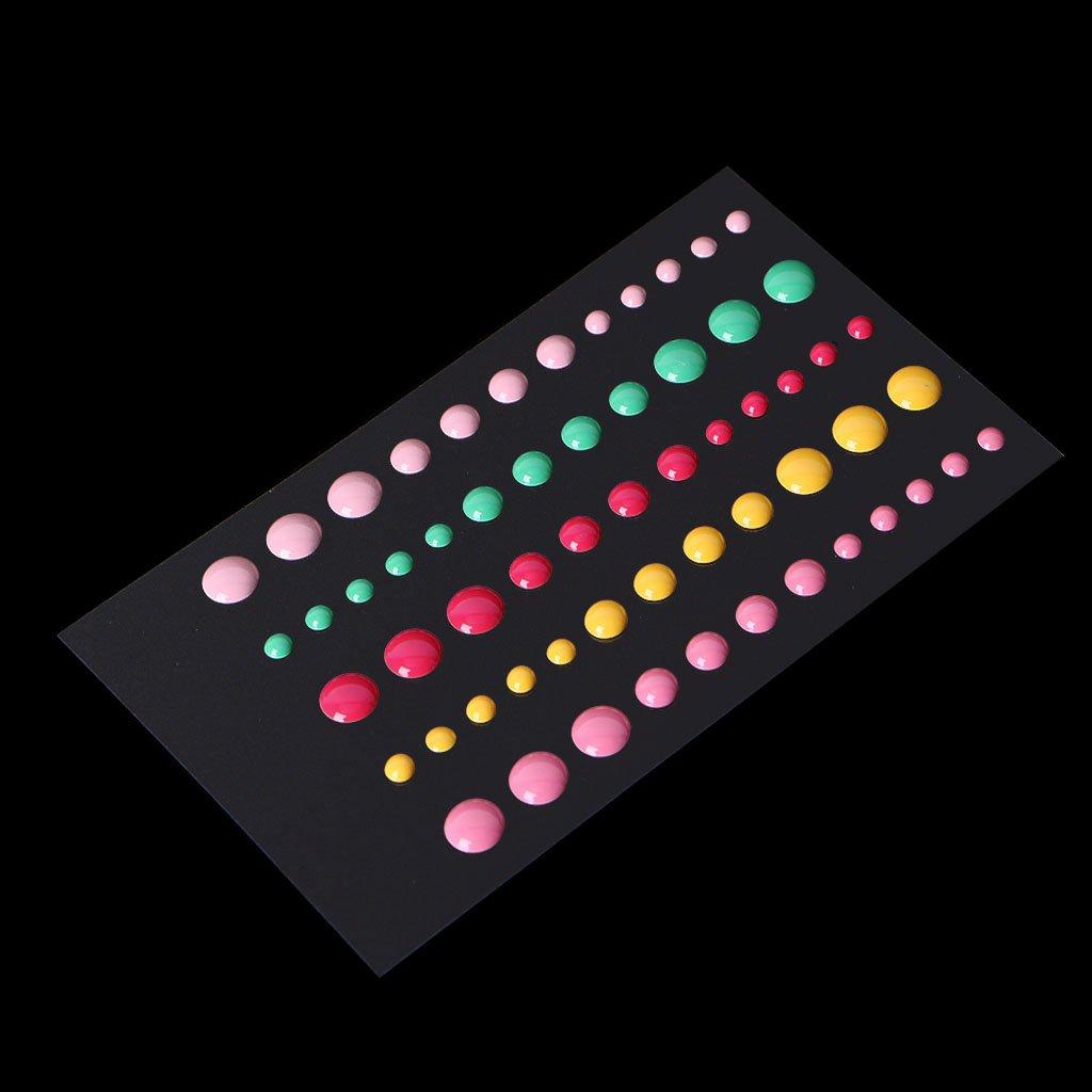 Dabixx 1Piece Enamel Dots Resin Self-adhesive Sticker for Scrapbooking DIY Crafts Sticky 13x8.3cm/5.12'x3.27'