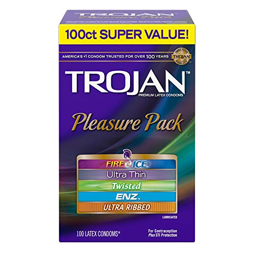 Trojan Pleasure Pack - Trojan Pleasure Pack Lubricated Condoms 100ct variety pack