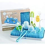 Baby Bottle Drying Rack, Large, Blue – Kids Dish and Accessories Dryer Stand and Drainer Mat