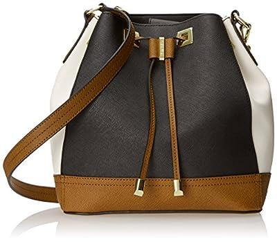 Calvin Klein Small Saffiano Drawstring Shoulder Bag