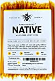 Native Honey Sticks, Pure and Uncut Honey Straws Made in the USA with Real Wildflower Honey (20 Pack)
