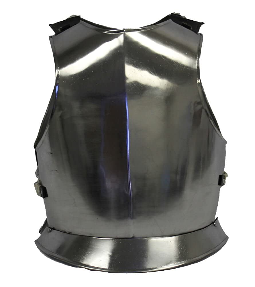 RedSkyTrader Mens Medieval Steel Chest Plate Armor One Size Fits Most  Metallic