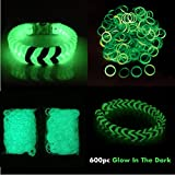 2 X 600 Loom bands Glow in the Dark