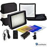 LimoStudio 216 LED Dimmable Ultra High Power Light Panel with 6'' x 6.7'' Collapsible Light Diffuser and Water Proof Hard Shell Carry Case Bag for Camera Photo Video LED Light, AGG2436