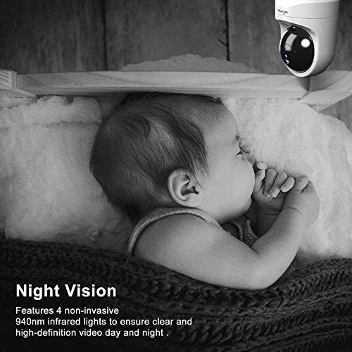 51S05jR5P9L. AC - Baby Monitor Camera, Wansview 1080PHD Wireless Security Camera For Home, WiFi Pet Camera For Dog And Cat, 2 Way Audio, Night Vision, Works With Alexa Q6-W …