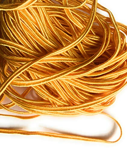 2mm Yellow Soutache Rayon Braided Cord Beading, Sewing,Quilting Trimming String 10 ()