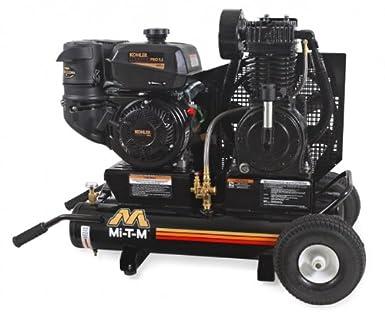 mi-t-m am2-pk95 - 08 M portátil compresor de aire, 8-Gallon, dos fase con gasolina: Amazon.es: Amazon.es