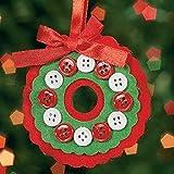 Felt Button Wreath Ornament Craft Kit - Crafts-makes 12
