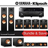 Klipsch RP-280F 7.2-Ch Reference Premiere Home Theater System with Yamaha AVENTAGE RX-A870BL 7.2-Channel Network AV Receiver