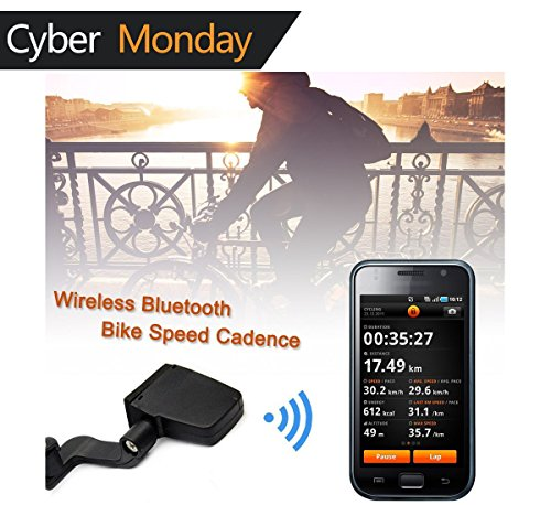 V-Best Bluetooth Bike Speedometer Wireless Bluetooth 4.0 Bicycle Cadence Sensor Rate Monitor ANT Fitness for iPhone iPad Android Cycling Speedometer/Odometer - Wireless Sensor Cadence