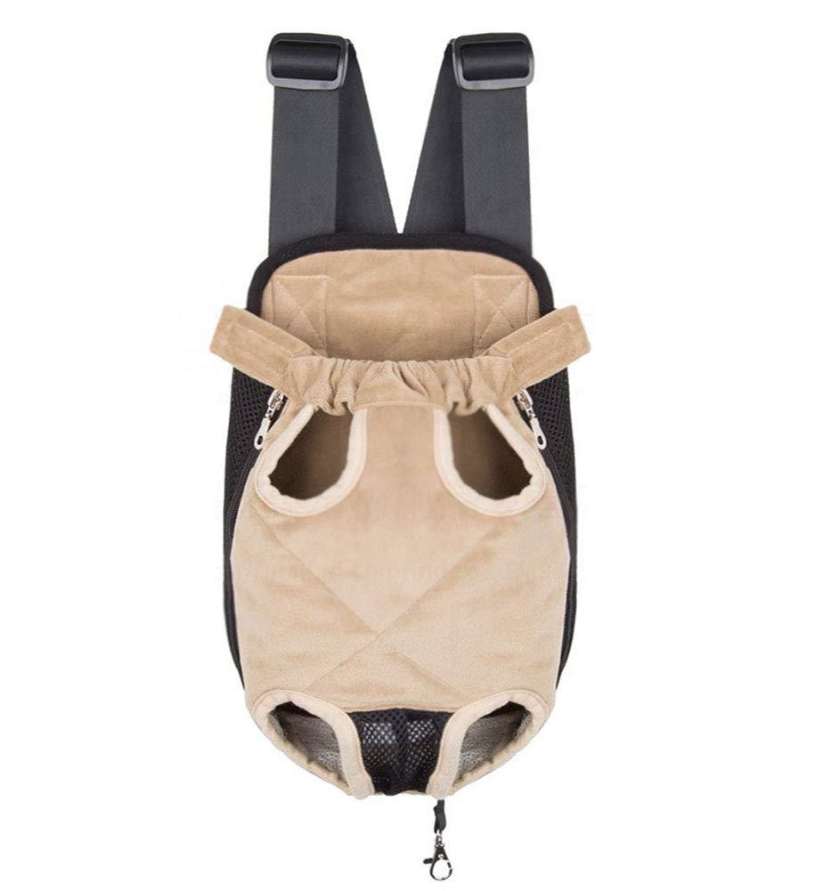 1 L  1 L MEI Pet Backpacks Outing pet Bag, Multifunction Portable Dog Backpack Cat Backpack Not Perspective Shoulder cat Bag Chest Bag Pet Backpack Supplies Canvas Stripe S (color    1, Size   L)
