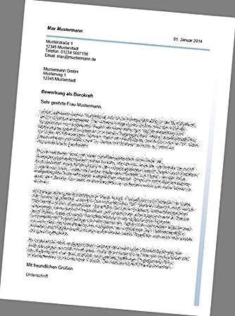 Bewerbung Als Bürokraft Anschreiben Bewerbungsschreiben Lebenslauf