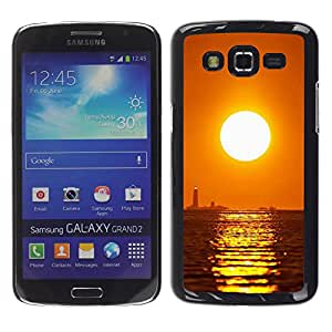 Exotic-Star ( Sunset Sea Beautiful Nature 16 ) Fundas Cover Cubre Hard Case Cover para Samsung Galaxy Grand 2 II / SM-G7102 / SM-G7105