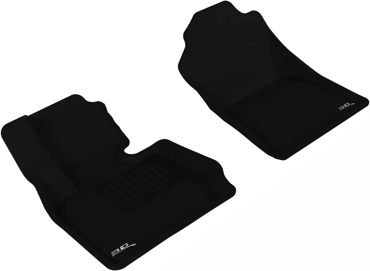 3D MAXpider Second Row Custom Fit All-Weather Floor Mat for Select BMW 3 Series Models Black Kagu Rubber