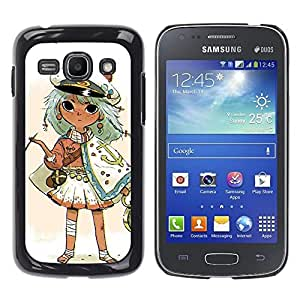 "For Samsung Galaxy Ace 3 Case , Capitán Kids Drawing Oro fumadores"" - Diseño Patrón Teléfono Caso Cubierta Case Bumper Duro Protección Case Cover Funda"