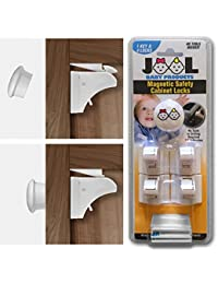 Safety Magnetic Cabinet Locks Set with 4 Locks & 1 Key - Drill & Tool Free - Baby Safety & Childproof Solution for Kitchen & Bathroom Cabinets - Universal Design BOBEBE Online Baby Store From New York to Miami and Los Angeles