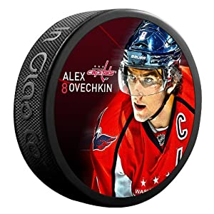 Sher-Wood Alex Ovechkin Washington Capitals Star Player NHL Puck