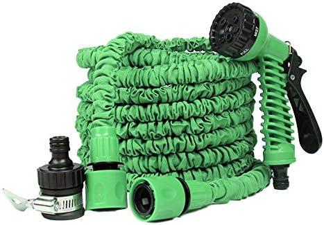 Suudada Garden Hose, Retractable Magic Flexible Watering Hose, Plastic Hose For Garden-Italy_25Ft_Blue100Ft