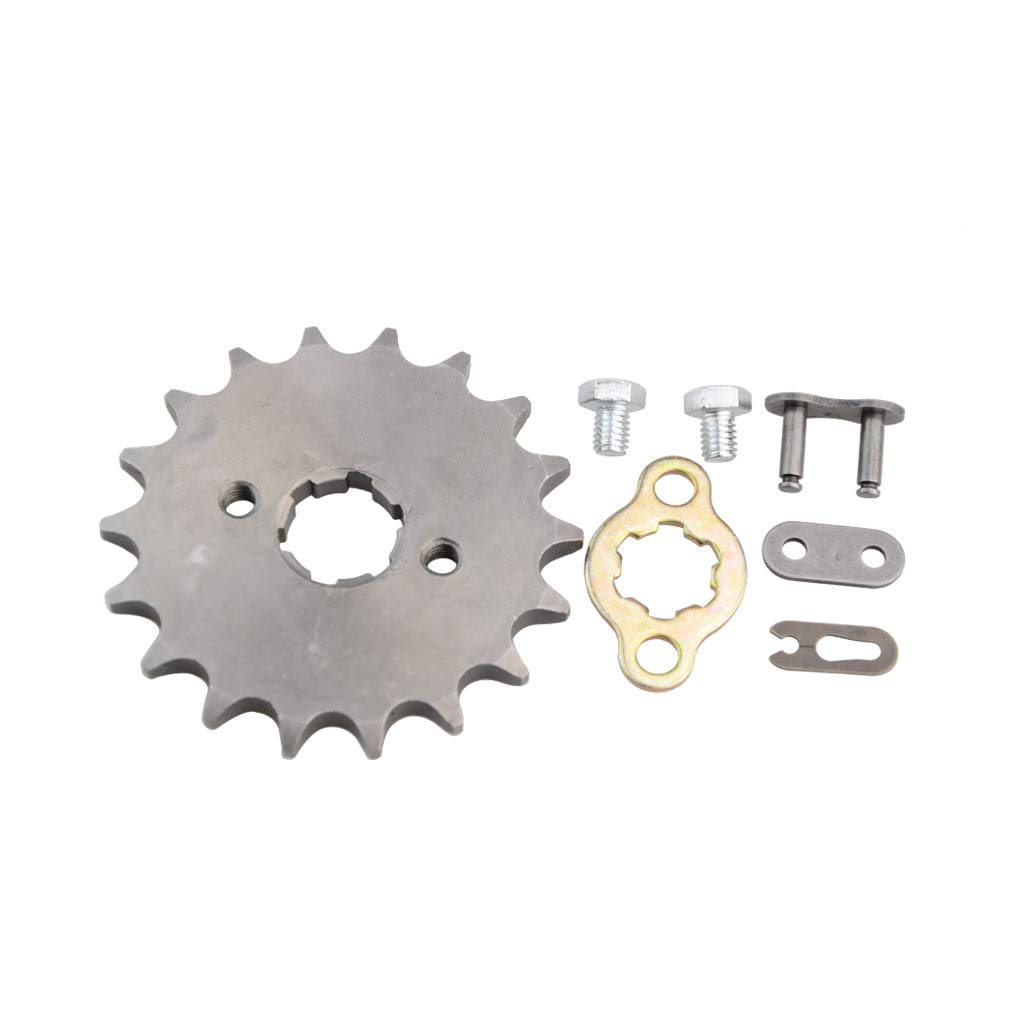 GOOFIT 420 18 20mm Tooth Front Engine motorcycle Sprocket Chain Retainer Plate LockerEngine For 50cc 70cc 90cc 110cc Motorcycle Dirt Bike ATV Quad