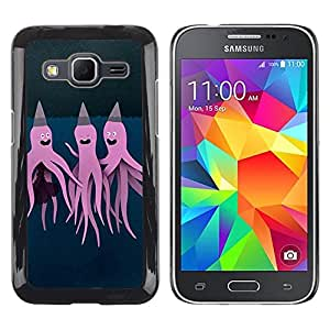 LECELL--Funda protectora / Cubierta / Piel For Samsung Galaxy Core Prime SM-G360 -- Purple Pink Art Painting --