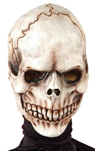 Forum Novelties Men's Skull Bones Full Mask, Multi, One Size (Skeleton Halloween Mask)