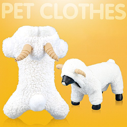 Glumes Cat Dog Doggie Sheep Costume Pet Clothes Warm Clothing for Small Medium Large Dogs Winter Cold Weather Windproof, Ideal]()