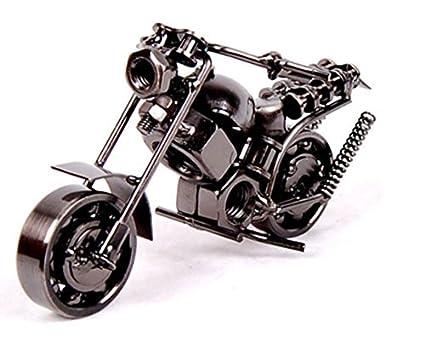 Worthy Shoppee Iron Mini Bike for Home Decor(5x3-inches, Silver)